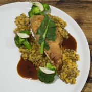 CHICKENWhole Roasted with Lentils and broccoli Sprouts