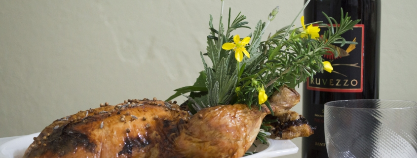 CHICKEN Whole Roasted with Black Truffle Brioche Stuffing